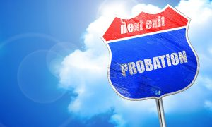 Probation Next Exit Road Sign
