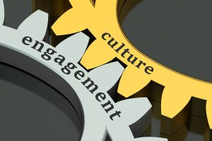 culture engagement concept isolated on black background