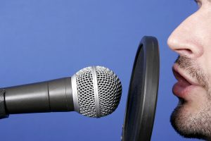 announcer and microphone picture