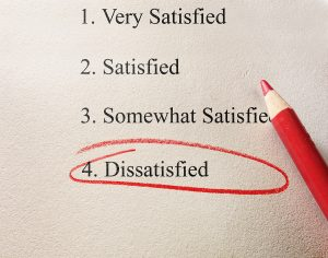 Dissatisfied Checked on Survey