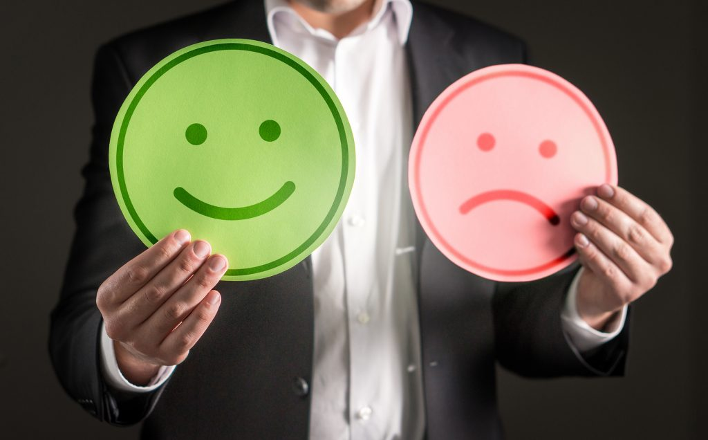 Happy and Unhappy faces. Does emplyee happiness equal engagement?