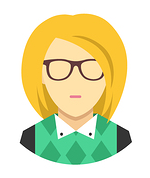 female_avatar_blonde_glasses_white